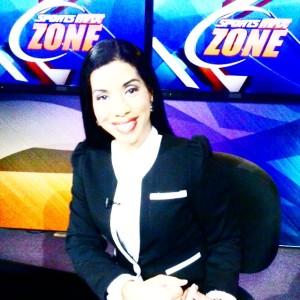 Maia Chung as a News Anchor at Sports Max